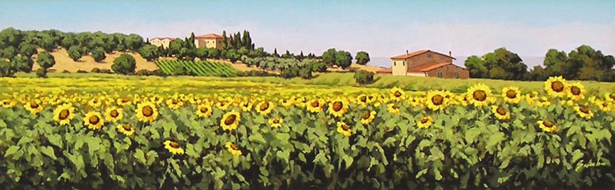 Paesaggio Toscano Con Girasoli - Landscape, Fabrizio Bambagioni - La ...